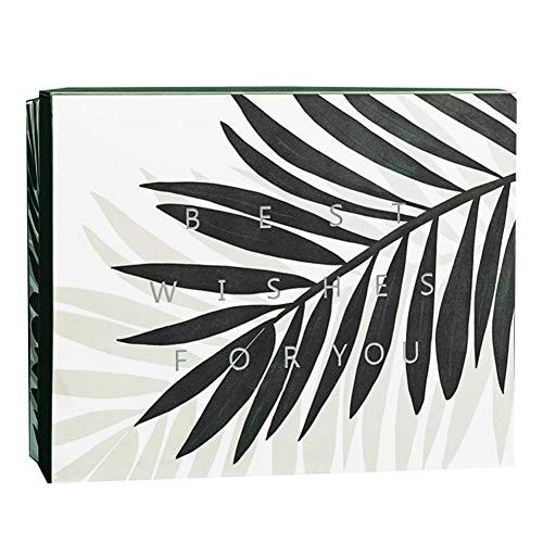Warmhouse Caja De Regalo De Hojas Frescas Y Elegantes, Caja De Regalo Reutilizable, Multiusos, para Aniversario, Regalo De Empresa, Graduación-B-M