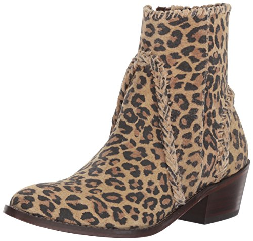Very Volatile Women's Varela Western Boot, Brown Leopard, 7 B US