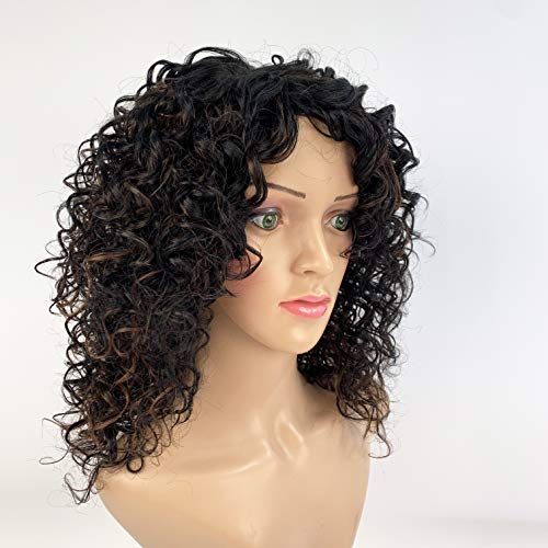 SLEEK Synthetic shoulder length wig Perruque 14 inches Curly WIG NADIA Fashion Wig Cospaly Synthetic Wig 120g adjustable cap
