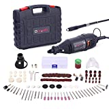 Rotary Tool <span class='highlight'>Kit</span>, GOXAWEE 130W Multi-Functional Mini Grinder Set with 140 Accessories (Keyless Chuck & Flex Shaft) Varible Speed Multi Tool for Craft Projects & DIY Creations