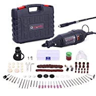 ◆Practical Multi Tool Set: 140 Pieces rotary tool kit with 4 attachments - Flexible drill shaft, Universal keyless chuck, Drill locator & Cover shield AND mixed accessories - Twist drill bit, Wire brush, Abrasive stone, Felt bobs, Sanding paper & dru...