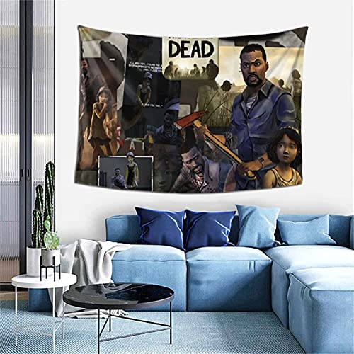 Needlove The Walking Dead Clementine Collage Tapestry Poster Wall Hanging, Boutique Art Wall Hanging Tapestry Tapestry for Living Room Bedroom Home Decor ( 40*60in 102x152cm)