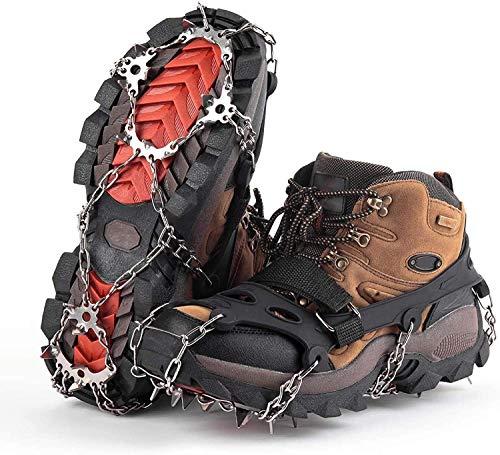 Klopfeisen für Bergstiefel, Schuhkrallen mit 19 Edelstahlzähnen Spikes Schneekette Spikes Schuhkrallen für die Brust Wandern Winter Outdoor M