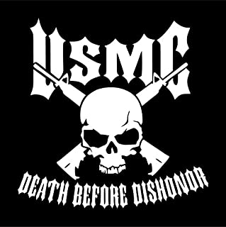usmc death before dishonor decal
