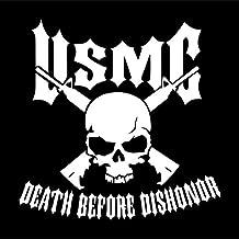 USMC Marine Corps Death Before Dishonor Vinyl Decal Sticker | Cars Trucks Vans SUVs Windows Walls Cups Laptops | White | 5.5 Inch | KCD2387