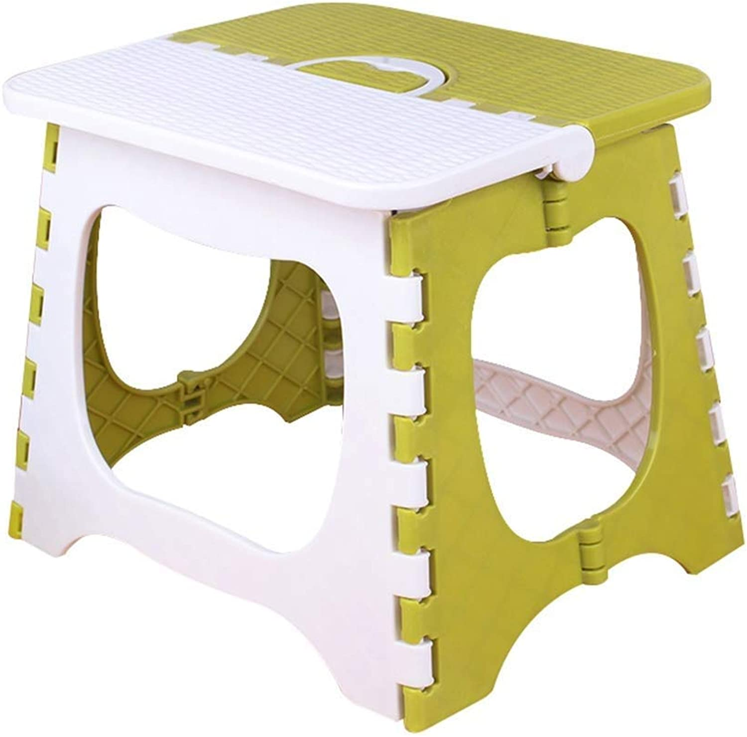 Footstool, Simple Stool, Folding Stool, economical Small Bench Multifunctional Storage Footstool (color   Green, Size   A)