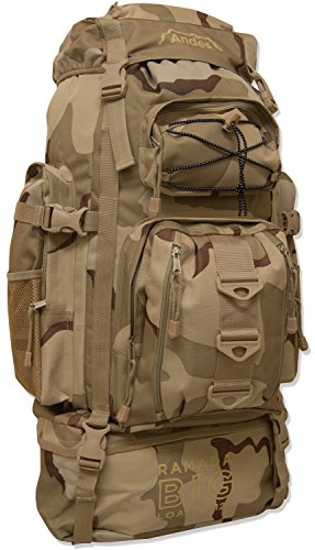 Andes Desert Camo/Camouflage Ramada 120L Extra Large Hiking Camping Backpack/Rucksack Luggage Bag