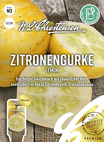 Zitronengurke Lemon, fruchtiger Geschmack mit säuerlicher Note, Samen