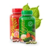 Balance Of Nature Fruit and Vegetable Supplement Tablets - 90 Fruit and 90 Veggie Capsules - Green and Red Superfood,...