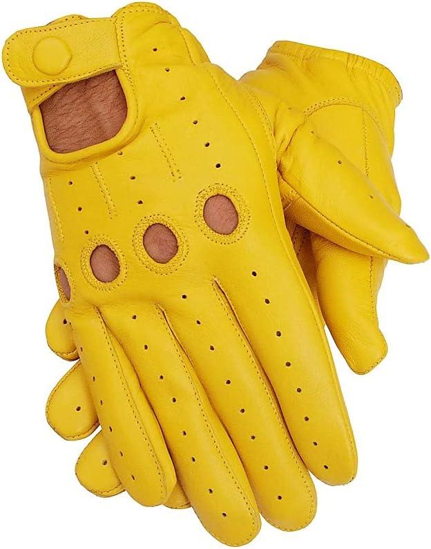 National uniform free shipping Men's Genuine Leather Driving Gloves Sale price Sheep Skin Original Leathe