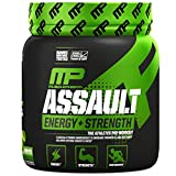 MusclePharm Assault Sport Pre-Workout Powder with High-Dose Energy, Focus, Strength, and Endurance, Green Apple, 30 Servings