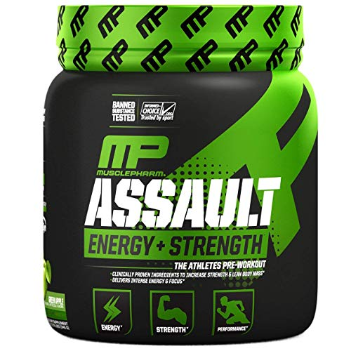 MUSCLE PHARM Assault Sport Green Apple, 345 g