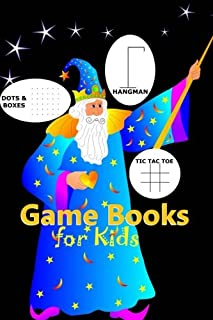Game Books for Kids: Dots and Boxes, Hangman, Tic Tac Toe and Doodling