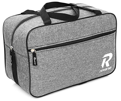 Ryanair Cabin Bag 40x20x25 Free Handbag Suitcase Luggage Tasche Handgepäck (Grey + Black Zipper)