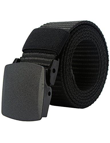 PARVENZA Uomo Cintura Regolabile di Nylon Canvas di Militare Tattica con Plastica Fibbie Cachi PVZ0612K