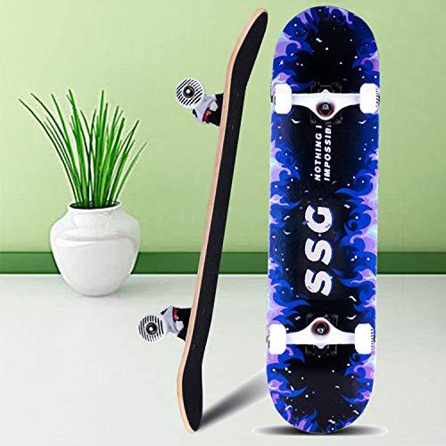 Aceshion Skateboards Adulto 70 x 20 cm Madera de arce para a