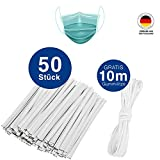 Unbekannt reative 50 stück Nasenbügel für Mundschutz waschbar,rostfrei Nasenklammer metallbügel...