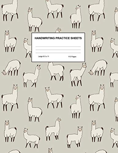 Handwriting Practice Sheets: Cute Blank Lined Paper Notebook for Writing Exercise and Cursive Worksheets - Perfect Workbook for Preschool, ... 3rd and 4th Grade Kids - Product Code A4 9492
