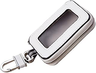Keeping Universal Car Key Holder Keychain Ring Case Bag (White)