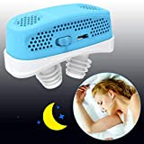 Anti Snoring Devices,2020 Automatic Snore Stopper & Air Purifier Filter, Snoring Solution,Nasal Dilator Nose Vents Plugs for Easing Breathing and Comfortable Sleep (Blue)
