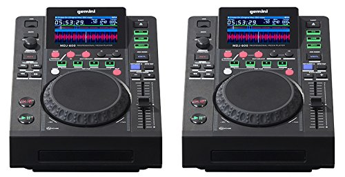 2 x Gemini MDJ-600 Professional CD Player Media DJ Controller USB (Pair)