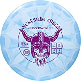 Westside Discs Origio Burst Underworld Fairway Disc Golf Driver | Straight Flying Frisbee Golf Driver | Beginner Friendly Disc Golf Disc | 170g Plus | Stamp Color and Burst Pattern Will Vary (Blue)