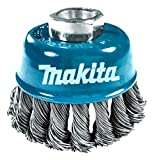 Makita 1 Piece - 3 Inch Knotted Wire Cup Brush For Grinders - Heavy-Duty Conditioning For Metal - 3' x 5/8-Inch   11 UNC