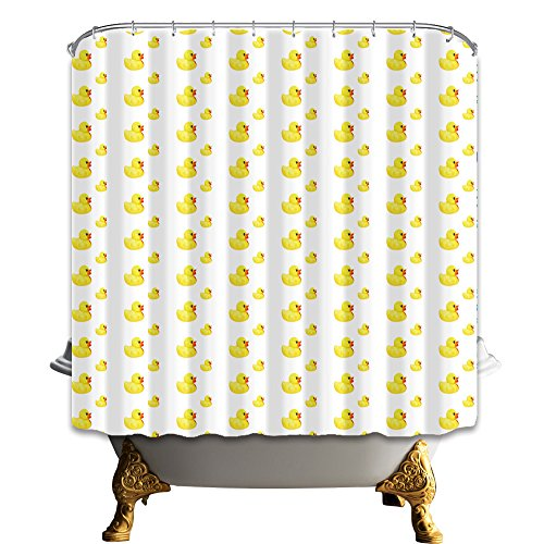 nymb Little gelb Ente 175,3x 177,8cm Schimmelresistent Polyester Stoff Duschvorhang Set Fantastische Dekorationen Bad Vorhang