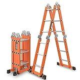 CHD - escalera telescópica Escalera plegable multifunción Aleación de aluminio...