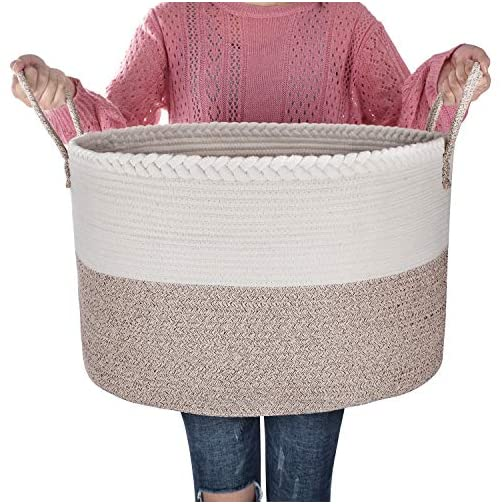 SOFIAM - XXX Extra Large Rope Basket – 22 x 14 Inches Durable & Eco-Friendly Storage bin – Easy to Carry Versatile Woven… 3