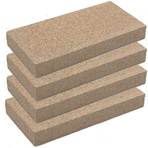 Vermiculit-Platte Vermiculite Schamottstein Schamotte Ersatz, 25x12,5x3 cm 4 Platten