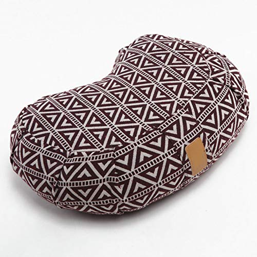 SFGSA Bolster Yoga Meditation Cushion Set Removable and Washable Pillow Pilates Almohadas Cervicales Reposacabezas Orgánico Naturalmente,Gris