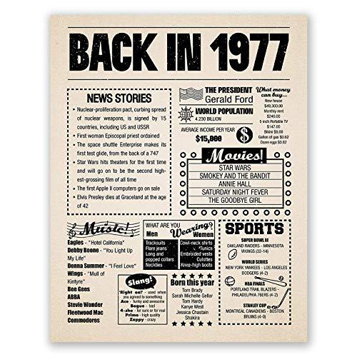 Amazon.com: 8x10 1977 Birthday Gift // Back in 1977 Newspaper ...