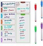 Agenda settimanale Orangeone Calendar/Memo Board per la Casa e L'ufficio con 4 Penne