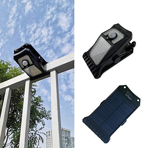 Solar Lights Outdoor Camp Light LeToper 45 LEDs Motion Sensor Outdoor Clip On Lights, 3 Modes 3 Mounting Ways Wireless Waterproof Safety Lights for Garden Outside Solar Porch Lights 2 Pack
