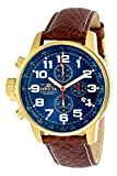 Invicta Men's Force 3329 Blue Leather Japanese Chronograph Fashion Watch