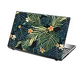 """TaylorHe - Laptop Skin Adesivo in Vinile per Computer Portatile da 15"""" (38cm x 25,5cm) Prodotto in Inghilterra Foglie e Fiori Tropicali, Verdi"""
