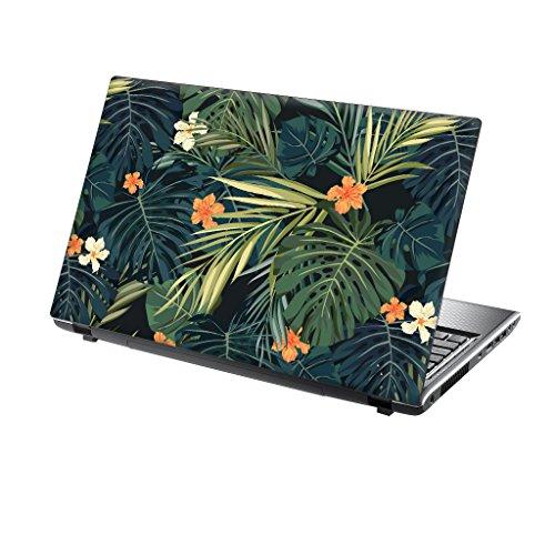 TaylorHe folie sticker skin vinyl sticker met kleurrijke patronen voor 15 inch 15,6 inch (38 cm x 25,5 cm) laptop skin roze bloemen 13-14 zoll bloemen