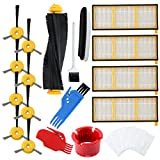 Livtor Robotic Vacuum Replacement Parts Accessories Kit, Compatible with Shark Ion Robot RV700, RV720, RV750, RV750C, RV755(1 Roller Main Brush, 4 Filters, 8 Side Brushes)