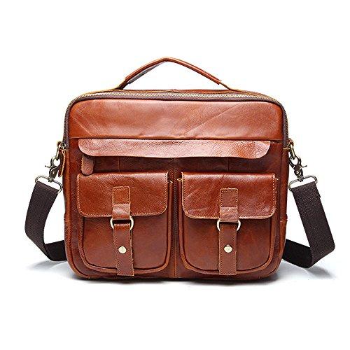 Cartelle Casual Commerciali schoudertas met schouderriem voor heren, van leer, voor werk, schoudertas met polsriem, schoudertas voor bankbiljetten, mini telefoon powerbank Moda Gentleman