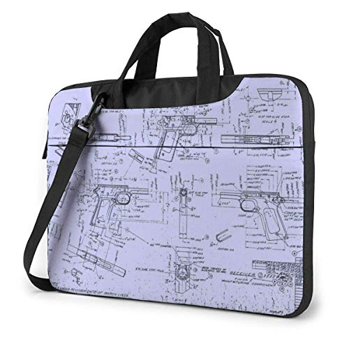 15.6″Lightweight Laptop Notebook Shoulder Backpack Bag Design Sketch Waterproof PC Briefcase Messenger with Strap