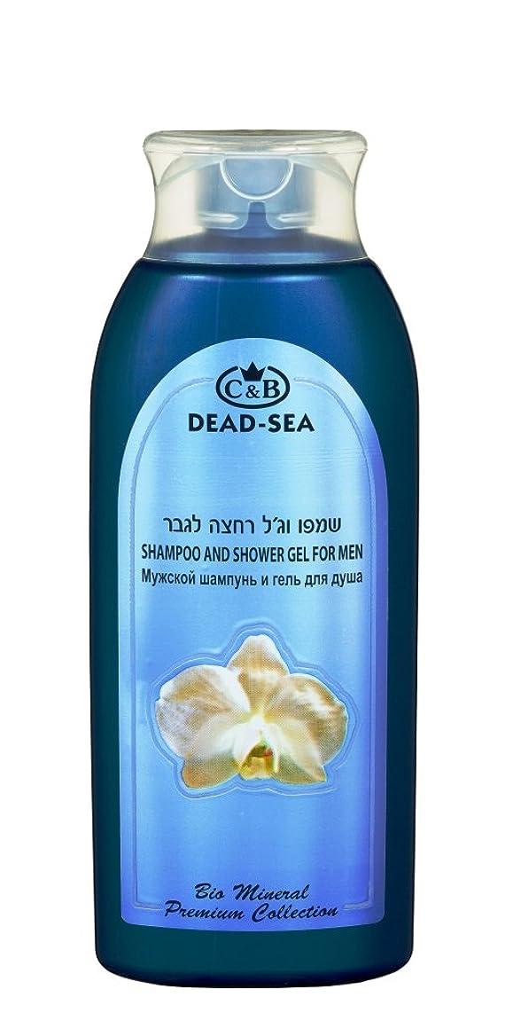 召集するくさび摩擦男性用シャンプーとシャワー用ジェル 400mL 死海ミネラル (Shampoo and Shower gel for Men