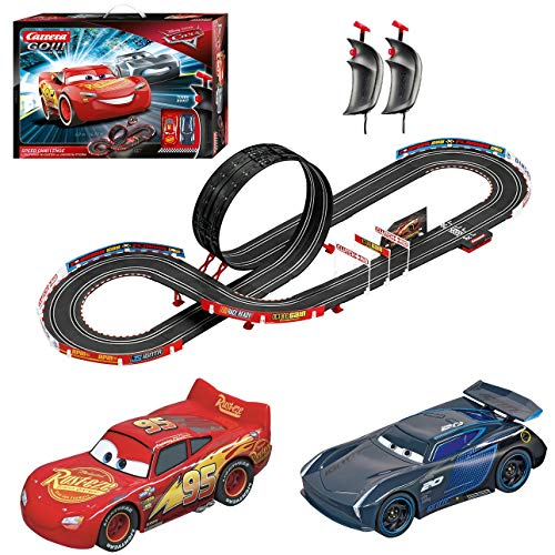 Carrera GO!!! 62476 Disney Pixar Cars Speed Challenge Electric Powered Slot Car Racing Kids Toy Race Track Set