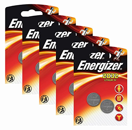 Energizer Original Batterie Lithium CR 2032 (3 Volt, 5x 2-er Pack)