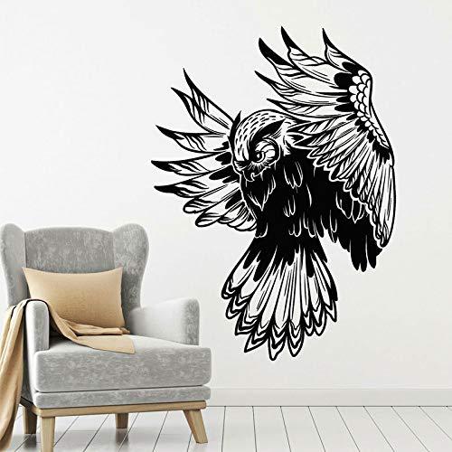 Fotobehang uil nacht bos vogel vliegende stam kinderkamer interieurstickers woondecoratie woonkamer kinderkamer behang muurschildering 42x57cm