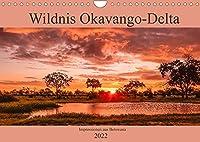 Wildnis Okavango-Delta (Wandkalender 2022 DIN A4 quer): Impressionen aus Botswana - Okavango-Delta (Monatskalender, 14 Seiten )