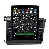 Sistema de navegación GPS SAT NAV, pantalla capacitiva de mensajes de teléfono inteligente, adecuado para Honda Civic (2012-2015)
