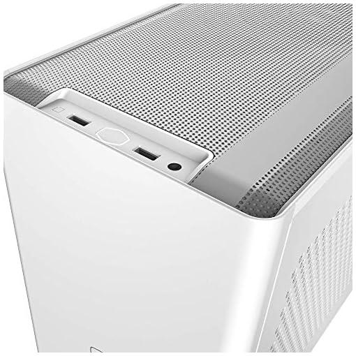 Cooler Master NR200 Caja Mini-ITX de Factor de Forma pequeño SFF Blanco con Panel ventilado, GPU de Triple Ranura, sin… 10
