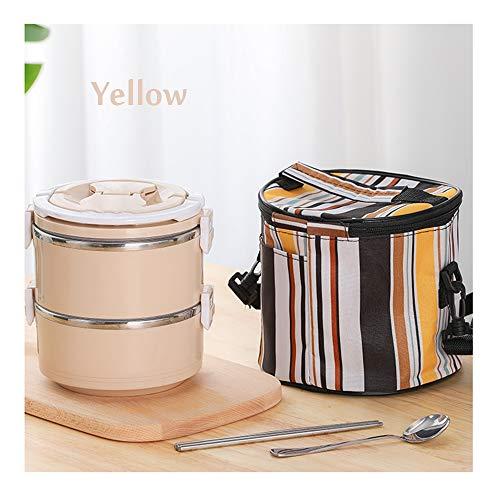 QWET lunchbox met geïsoleerd lunchpakket, stapelbare lunchboxen van roestvrij staal