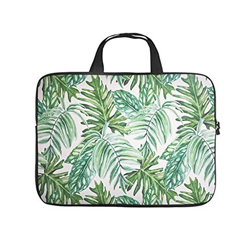 Bolsa para portátil con diseño de palmera tropical tropical hawaiana, funda protectora antiestática para el ordenador portátil, para el trabajo, regalo de negocios, etc., Blanco, 17 pulgadas,